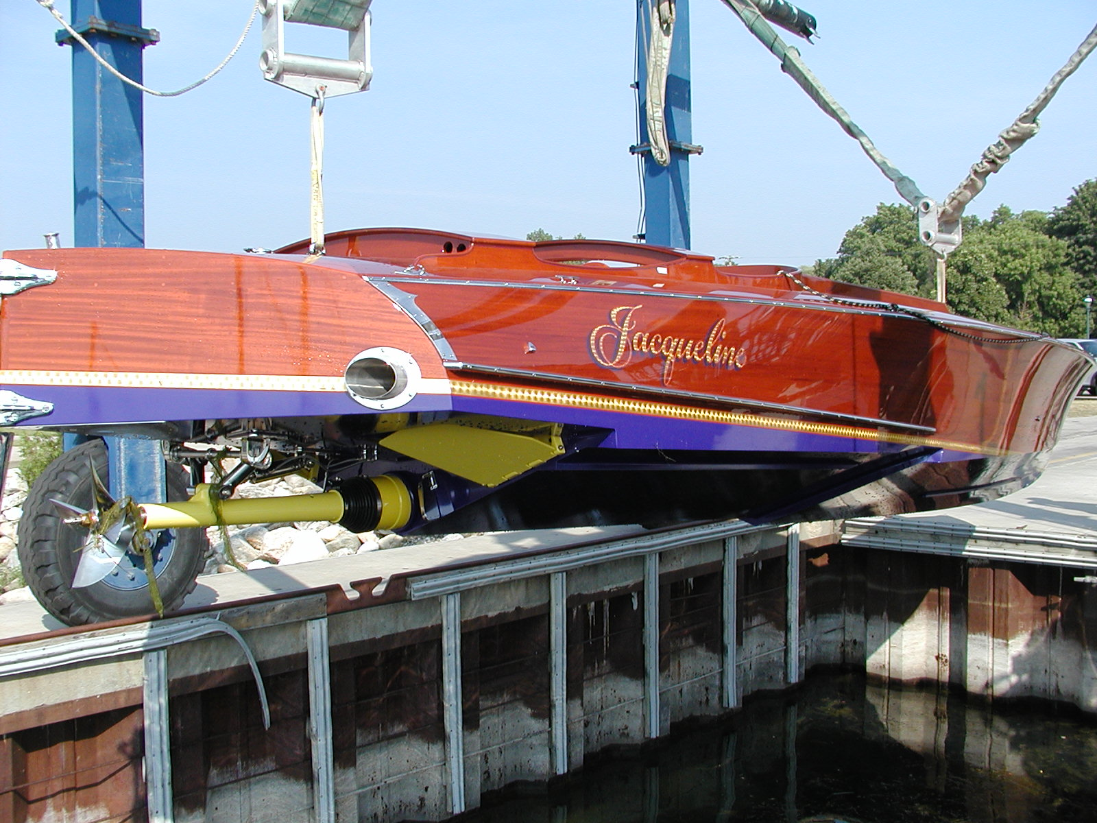 Jacqueline being lowered for water testing