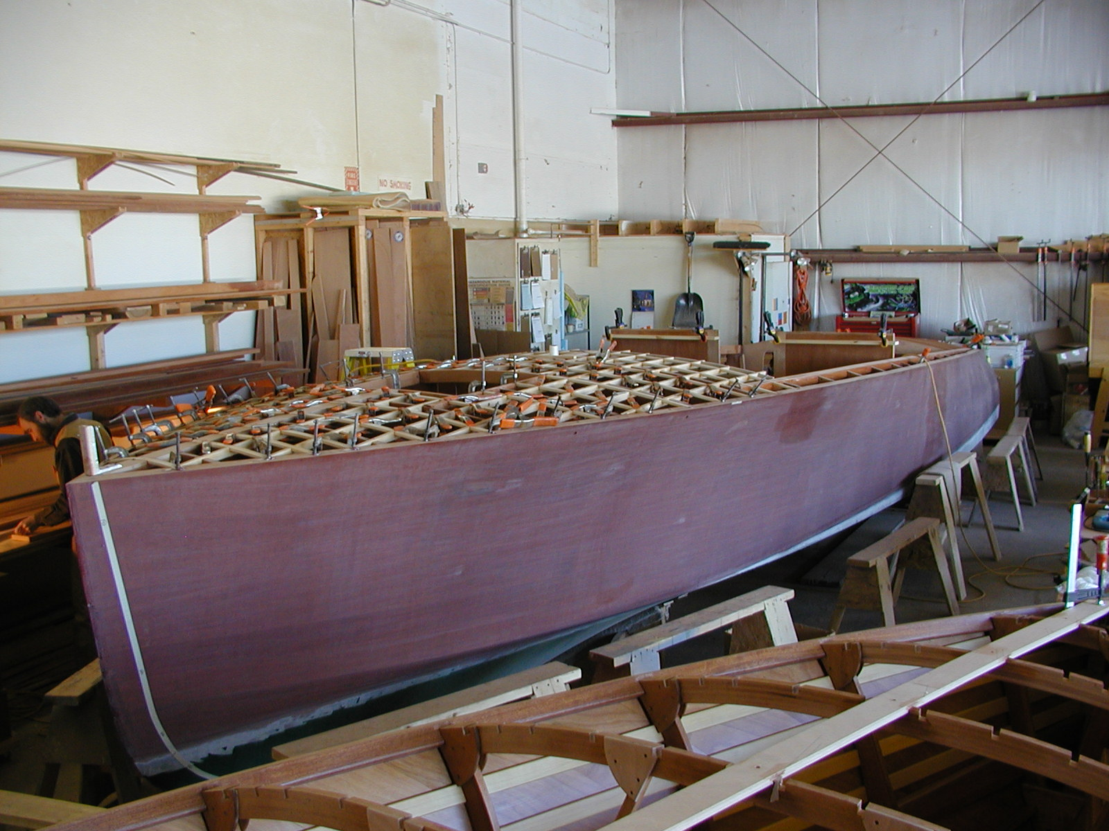 Sanded hull on Cyclone