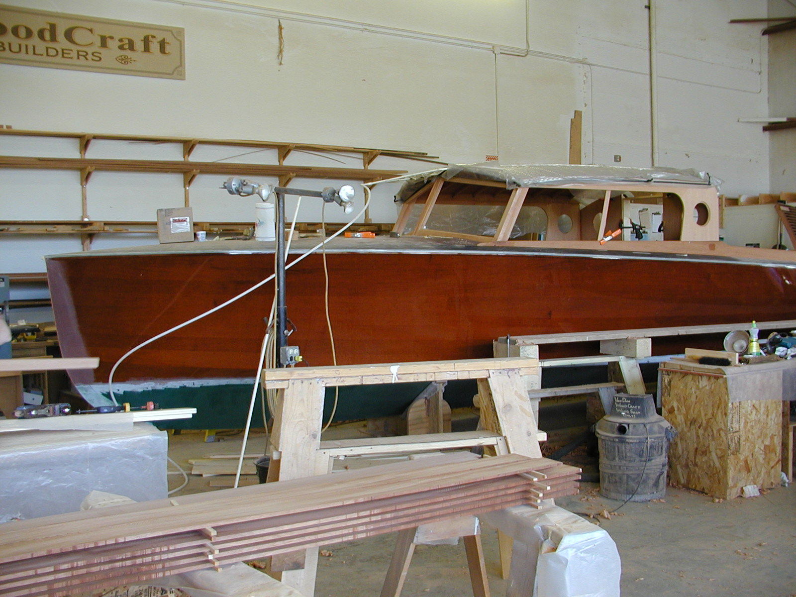 Cabin top being completed on Cyclone