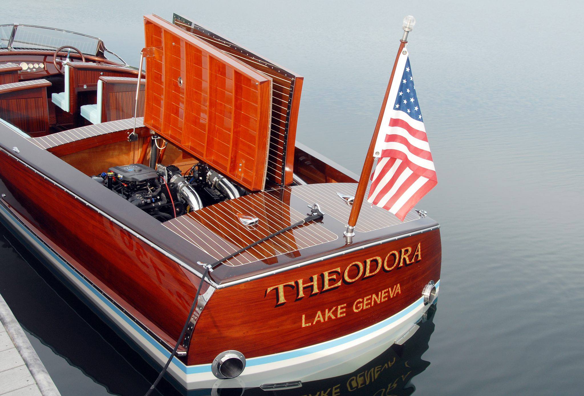 Engine hatches open on Theodora