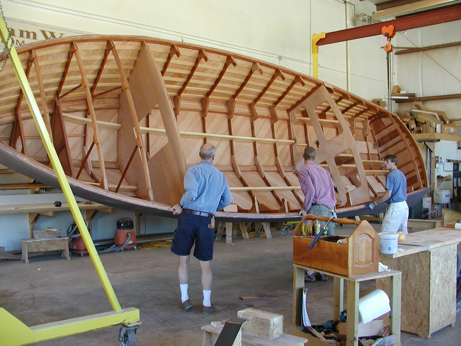 Rolling the hull of Theodora