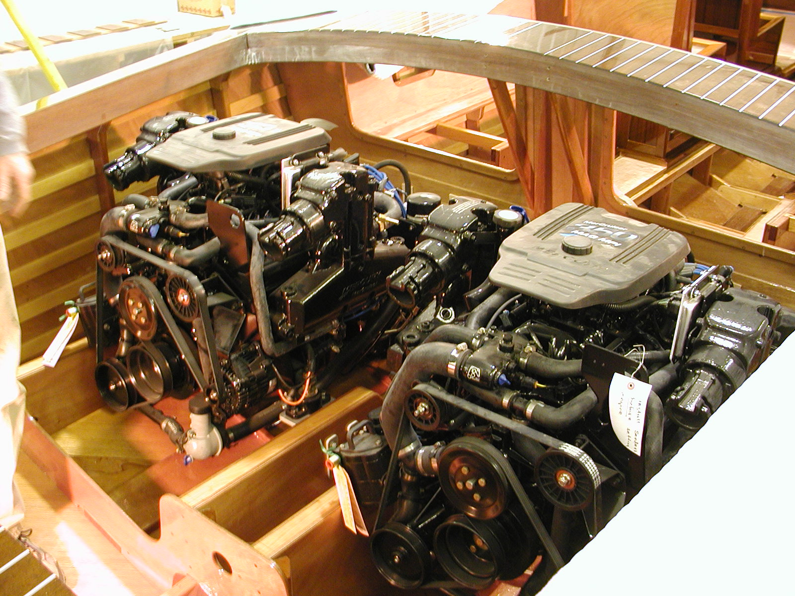 Twin engines installed for Theodora
