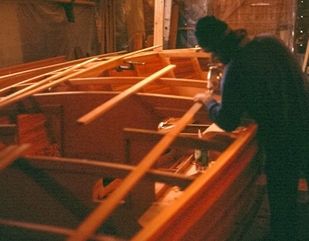 Founder Steve Van Dam assembling feather.