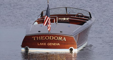 Theodora on the water.