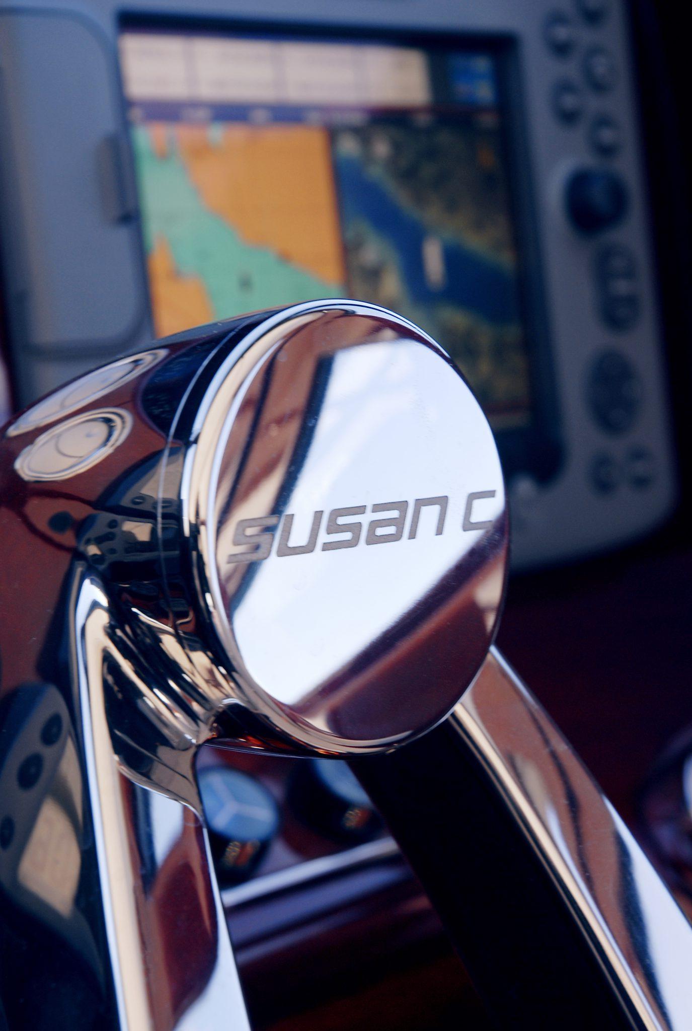 Custom stainless steel steering wheel accents
