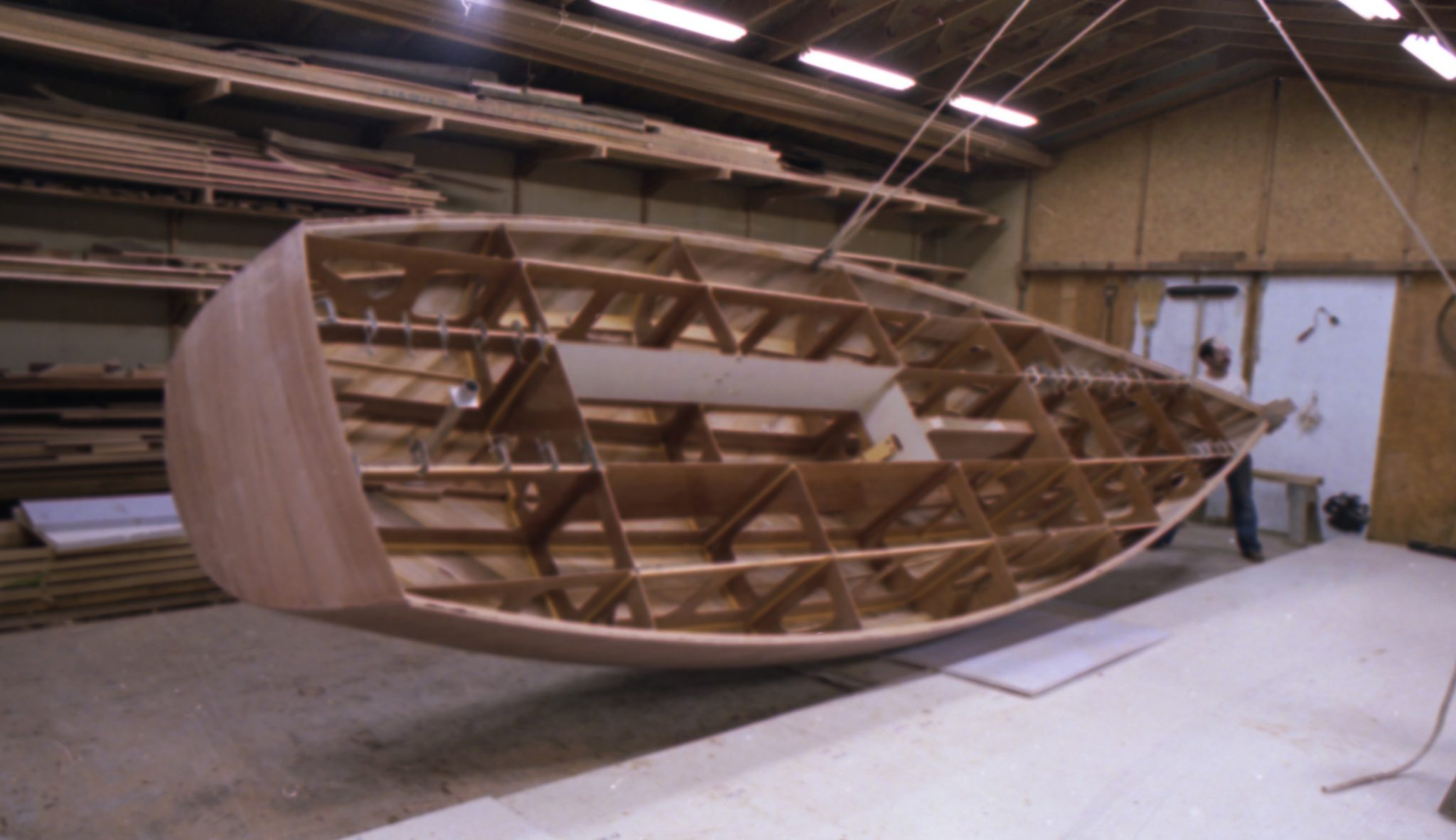 Rolling hull of Best Yet Shearwater
