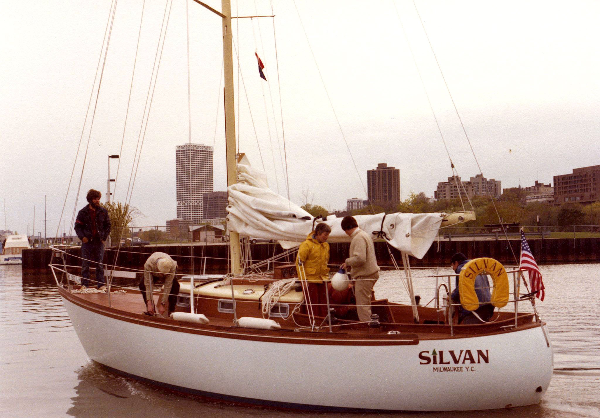 Silvan water test, first commission for Van Dam Custom Boats