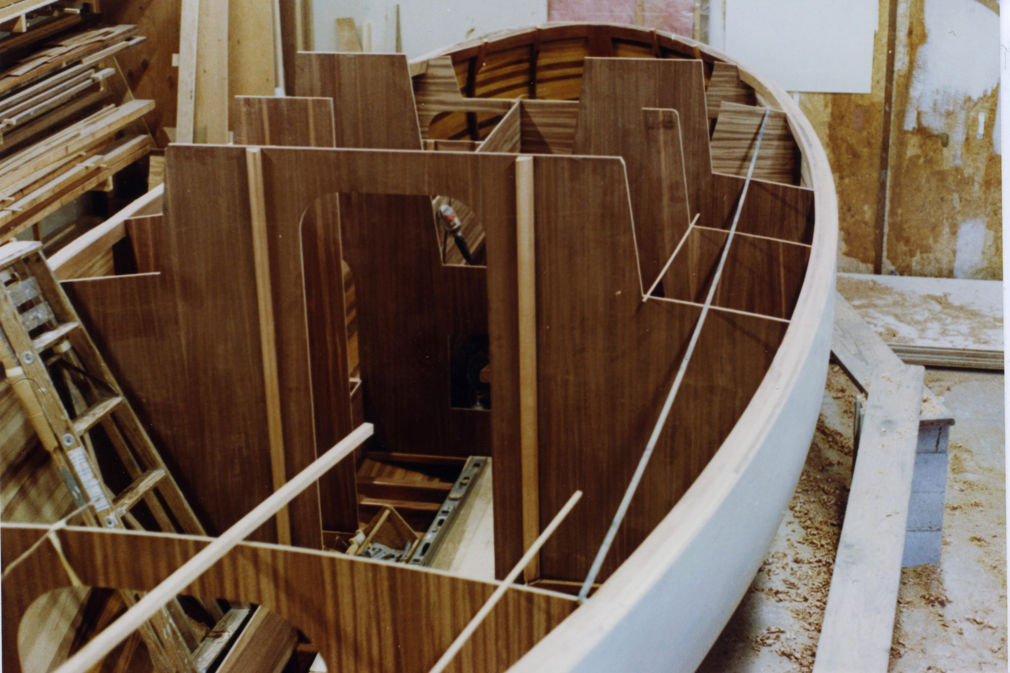 Interior structure being installed on Silvan