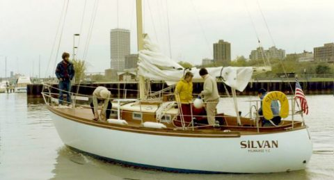 Silvan on the water.