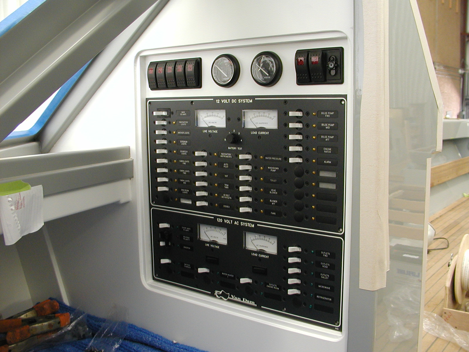 Control panels on Chiara