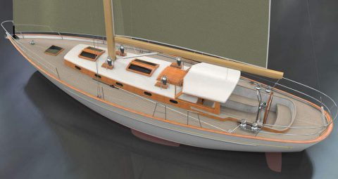Small model of boat.