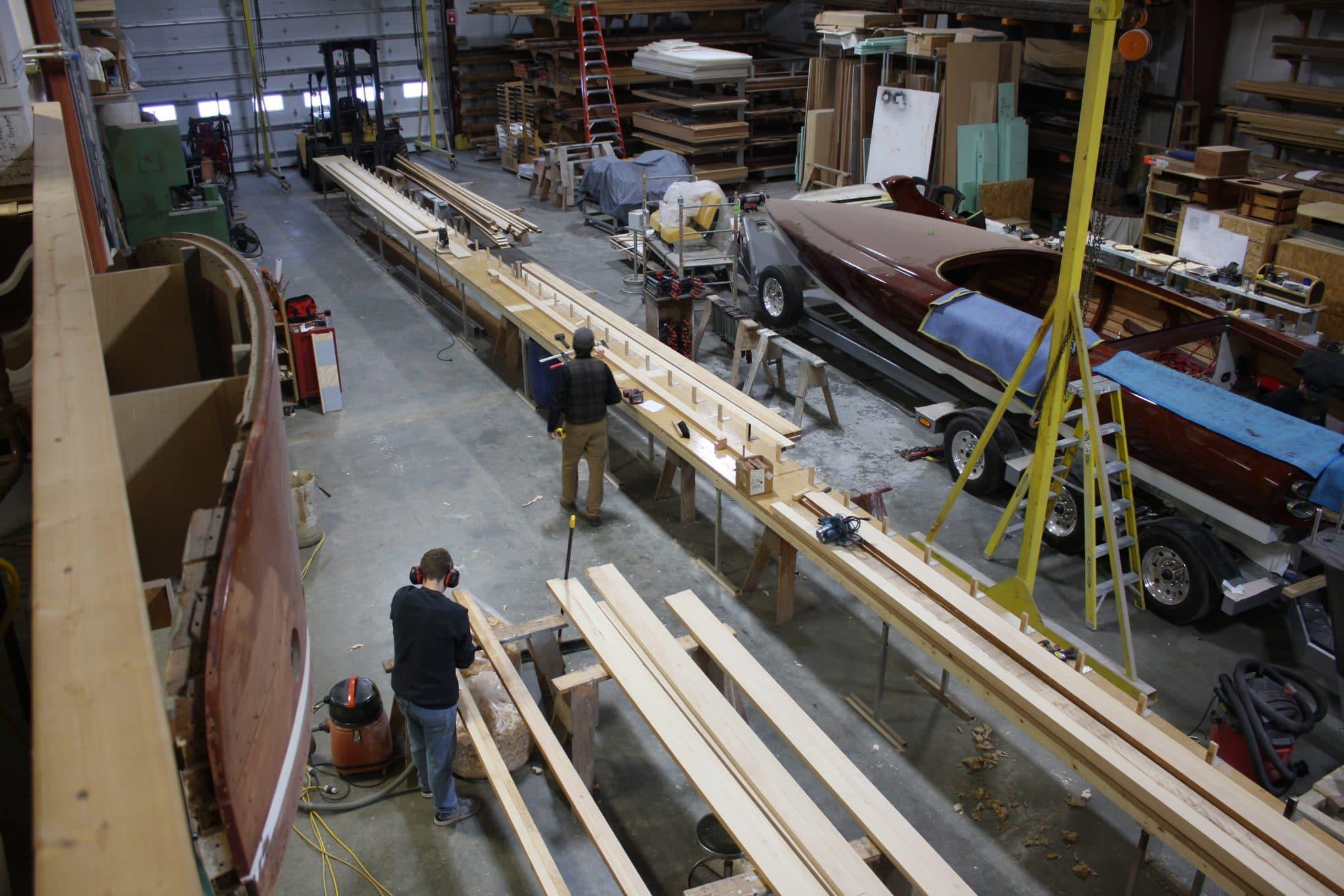 Construction elements of 75' mast for Italmas