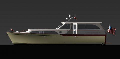 Sunray 3D boat render.