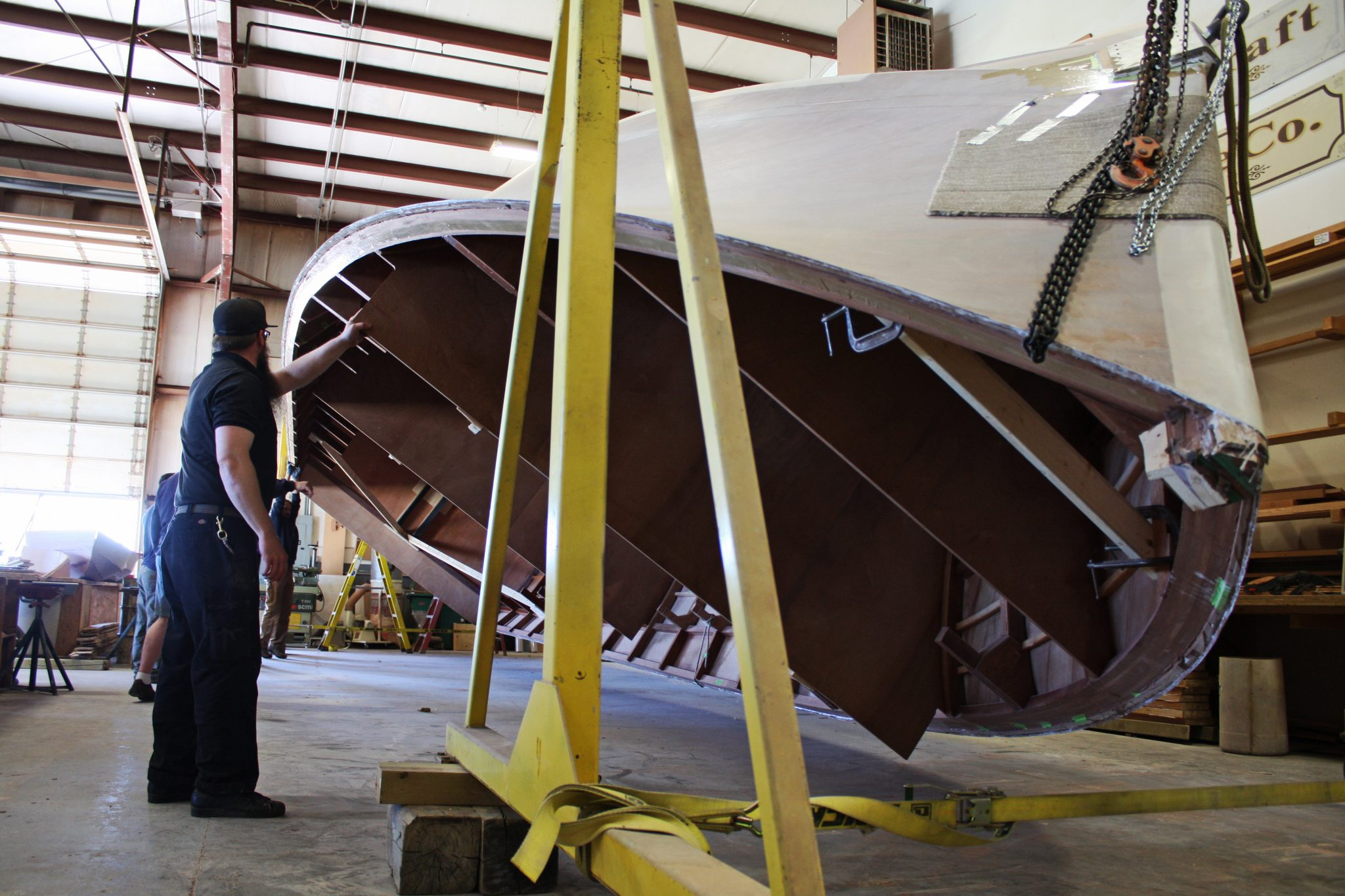 Rolling hull of Sunray to begin interior construction