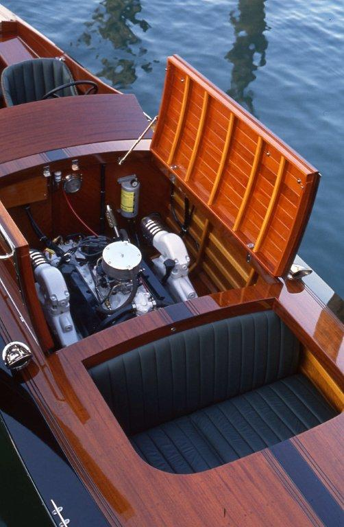 Unique seating forward of engine