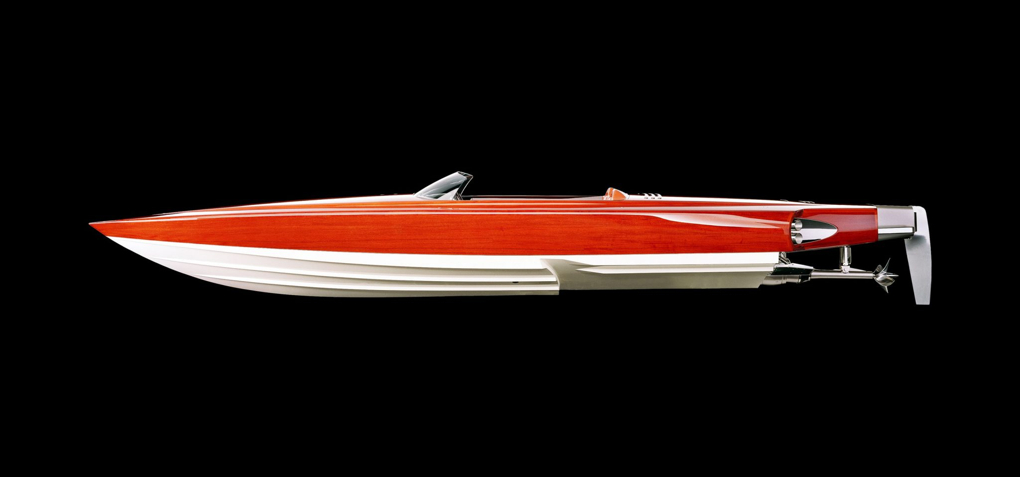 A 3d render of a boat.