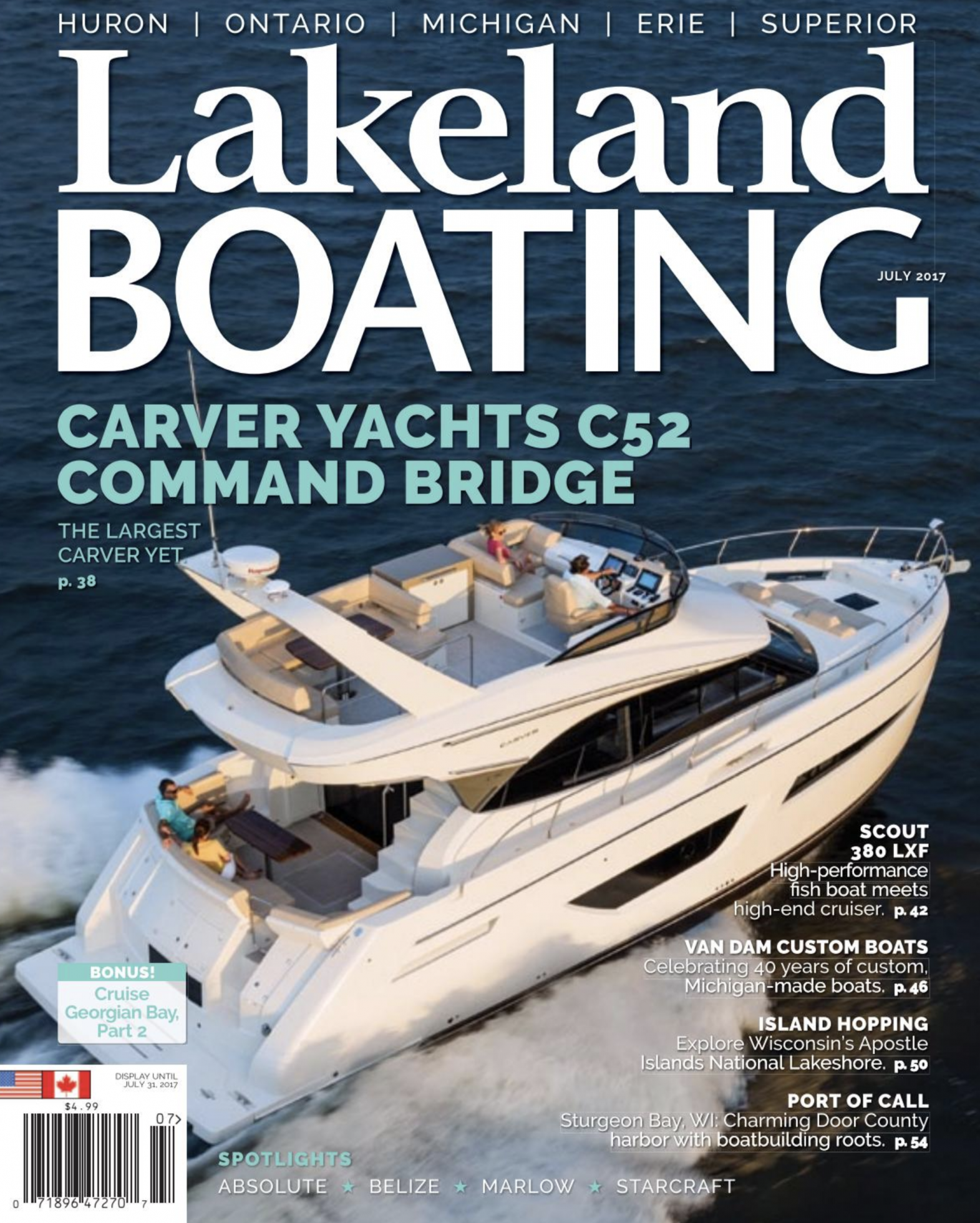 Cover of Lakeland Boating magazine.