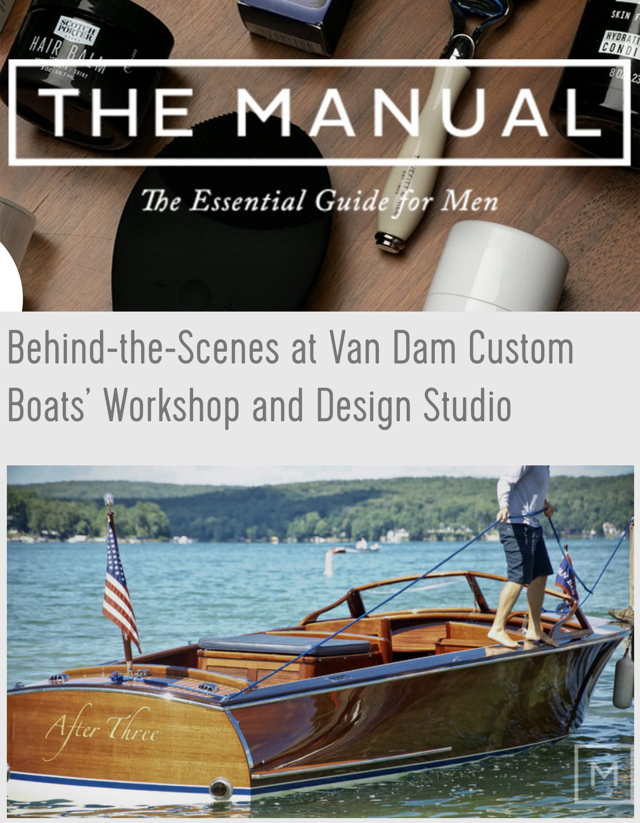 Cover of The Manual magazine.