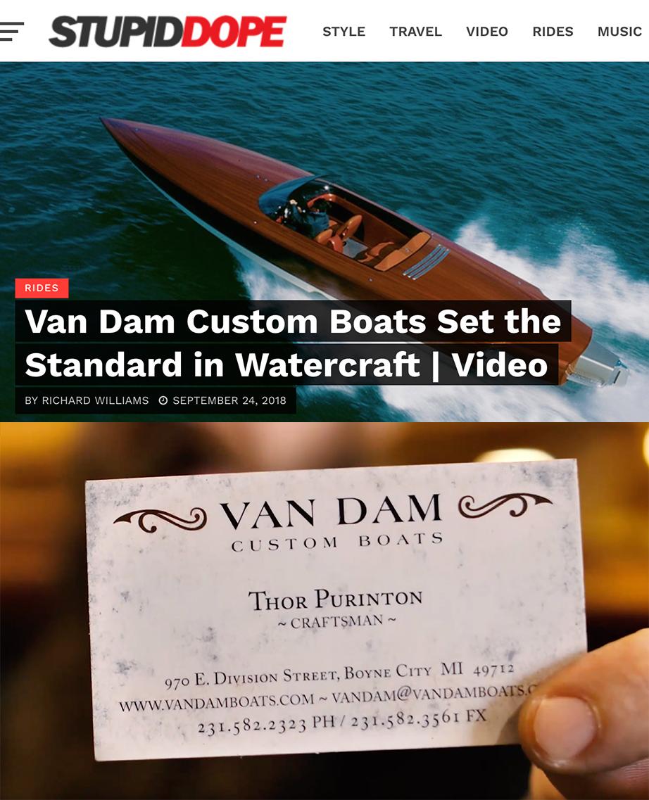 Screenshot from the StupidDope website showing a Van Dam article.