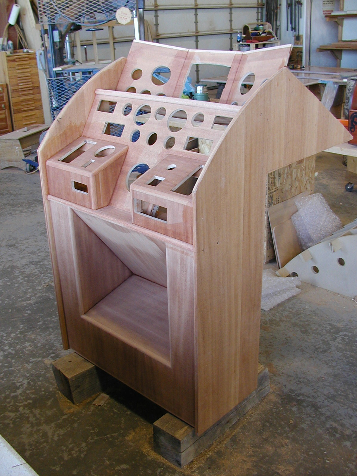 Constructing the helm console of Blue Star