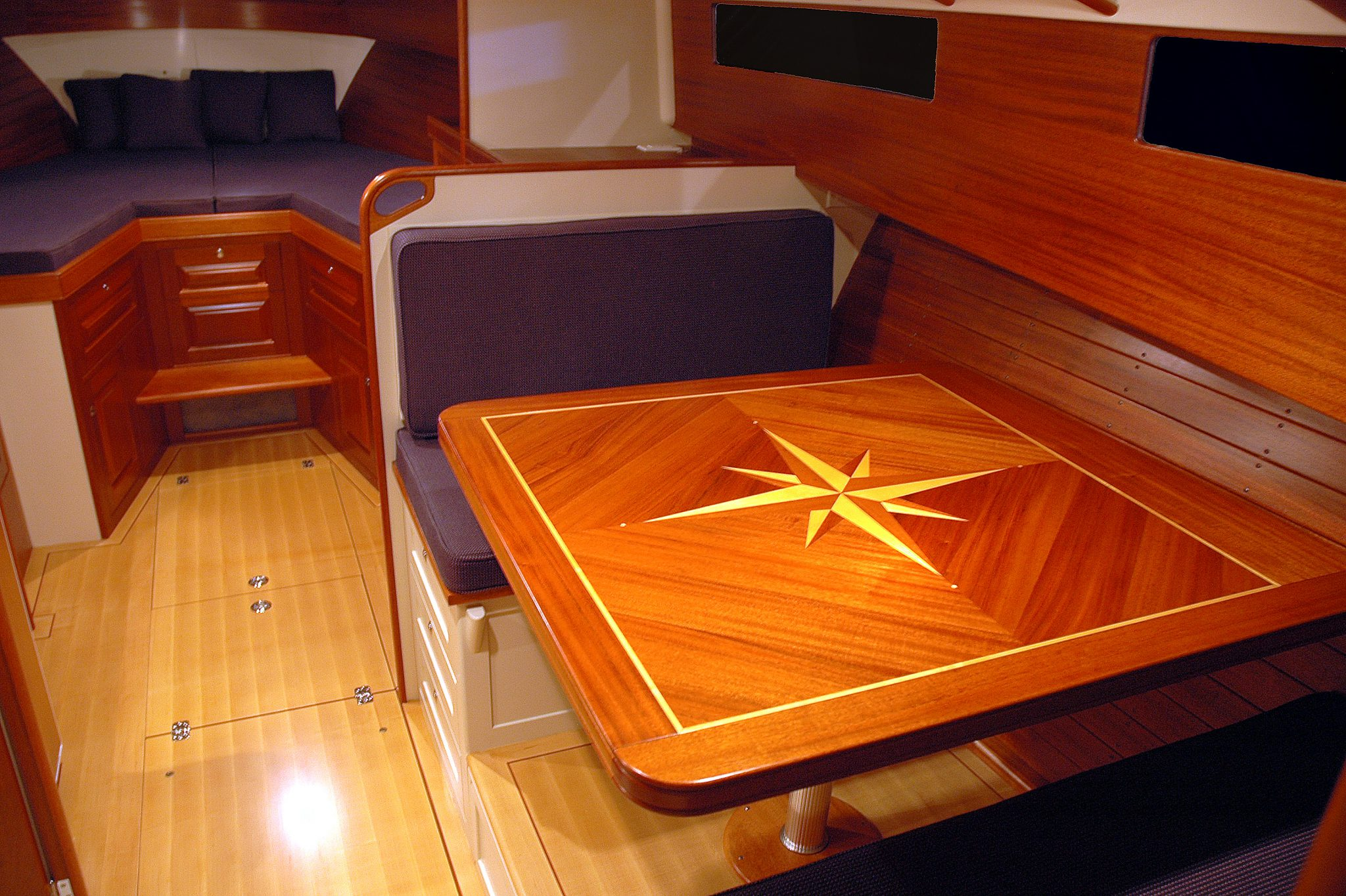 Gorgeous interior detailing on Blue Star