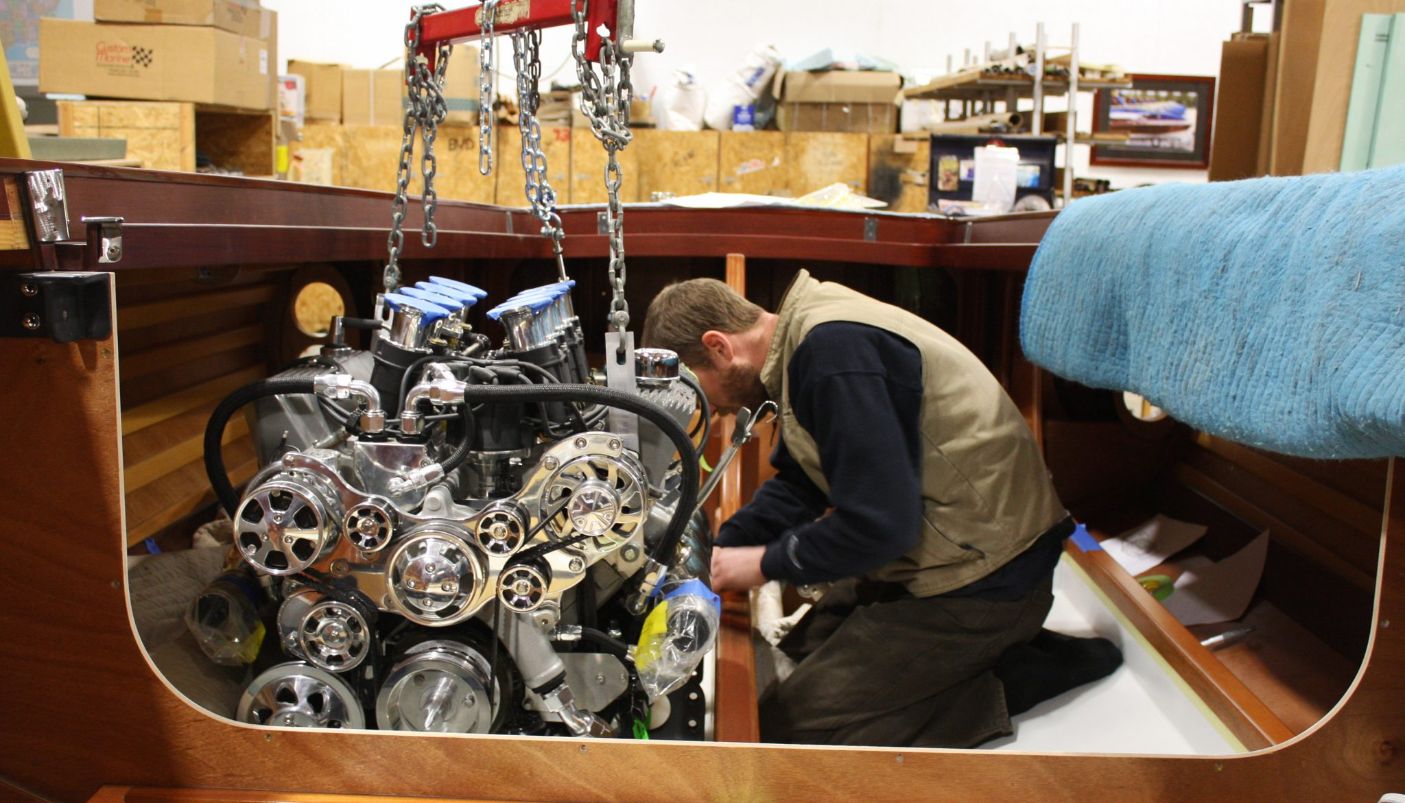 Installing the engines in VZ
