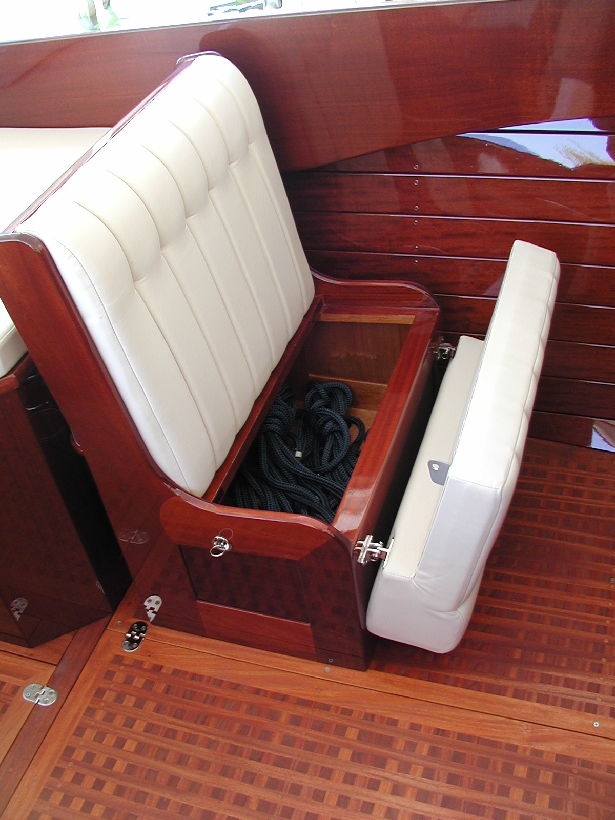 Convenient storage under seats
